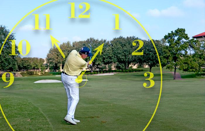Golf target swinging