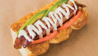 Free Bird; turkey dog, avocado, ranch, smoked bacon, tomato