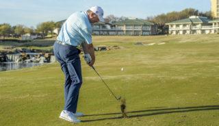 Gentleman working on his golf swing