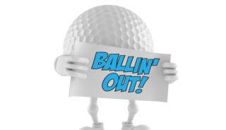 Golf Ball Cartoon Guy