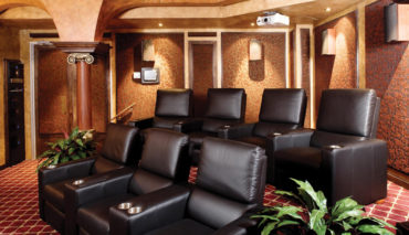 Media Room with Leather Seats