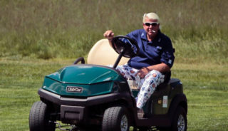 Daly and golf cart