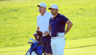 Jason Day and Stevie Williams