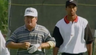 Ed Fiori and Tiger Woods
