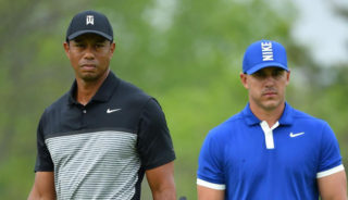 Brooks Koepka and Tiger Woods